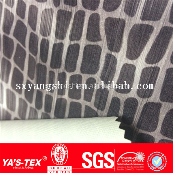 PU Coated Waterproof and Embossed Polyester Spandex 4 Four Way Stretch Fabric For Sport Garment