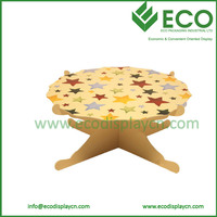 customized cardboard single tier cake stand , paper single tier cake stand