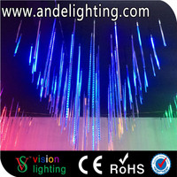 Waterproof outdoor colorful solar shower decorative led meteor light