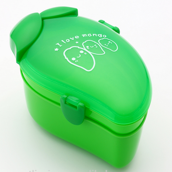 Fruit Shape BPA Free Refrigerator Kids Lunch Container With Spoon