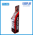 High quality store display cheap cardboard make up floor display stand