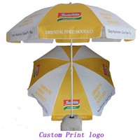 Outdoor beer advertising umbrellas