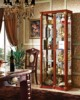 china cabinet curved glass
