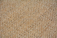 Polishing Sisal fabric