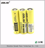 high quality GOLISI18650 2500mah 35A 3.7V Li-ion rechargeable battery made in China