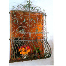 Decorative iron window guard / iron grill for window / window grills design pictures