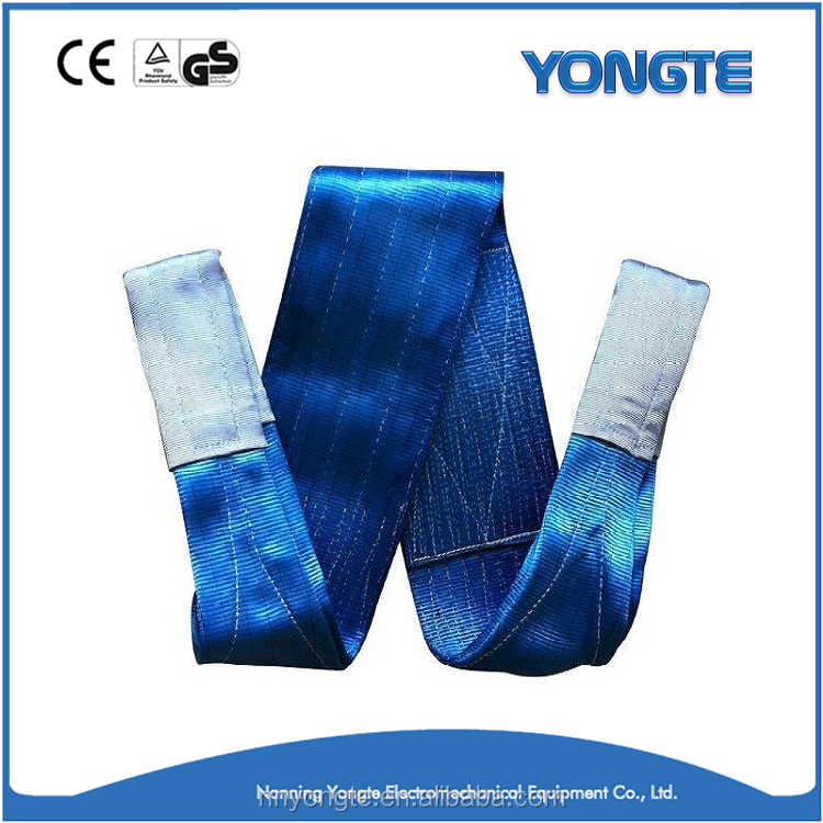 Endless Polyester Flat Webbing Lifting Sling/7 ton lifting straps