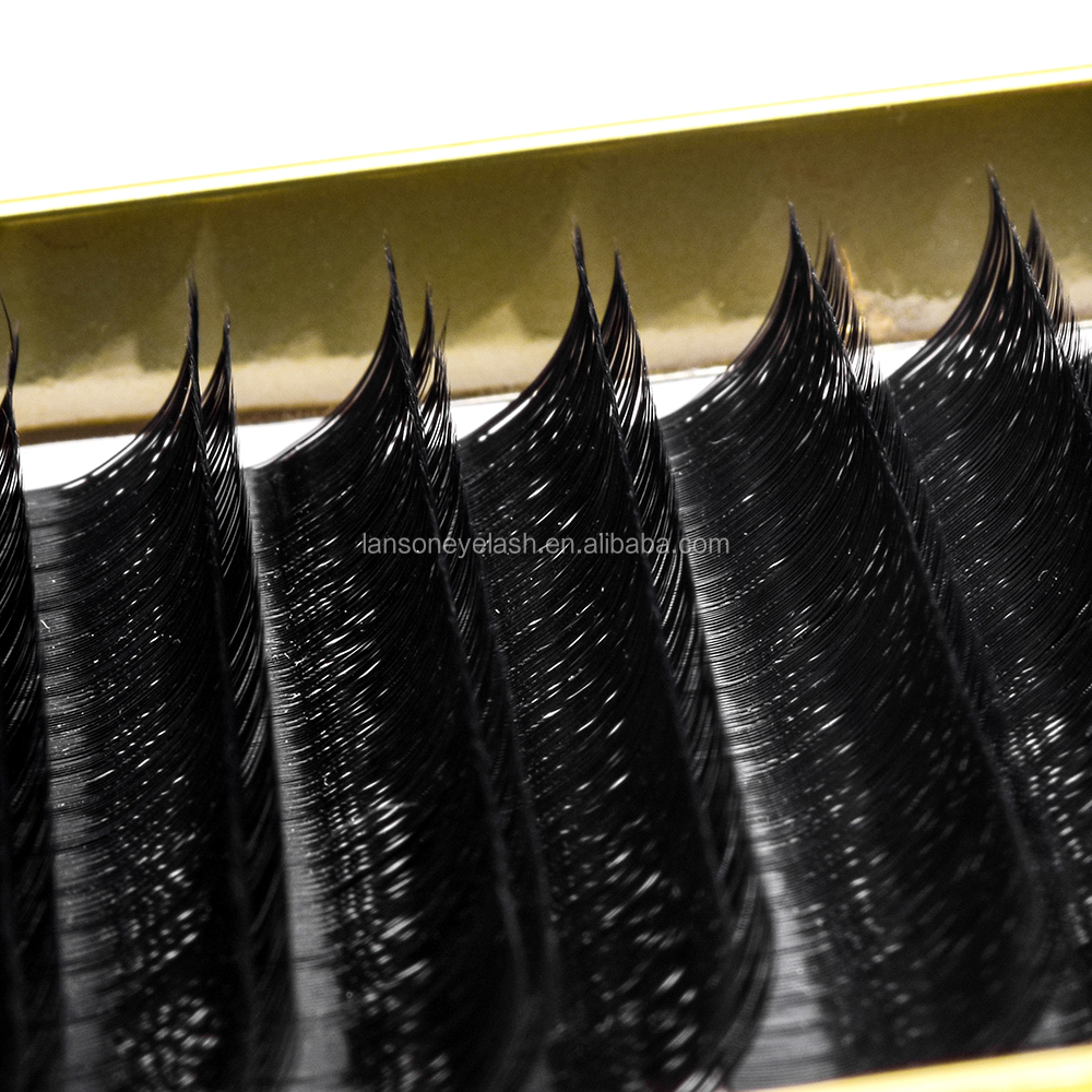 Hot <strong>selling</strong> professional korean private label 0.07 thickness double-deck faux mink eyelash extensions