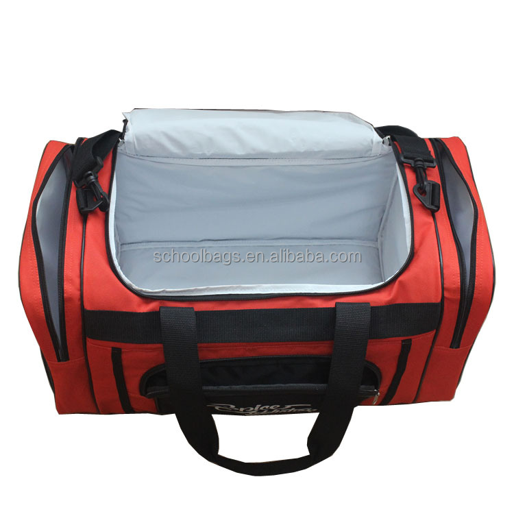large size polyester peva insulated practical sports cooler gym bag
