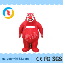 YC Manufactory wholesale Lively inflatable chinese animation red bear for advertising decoration and inflatable cartoon