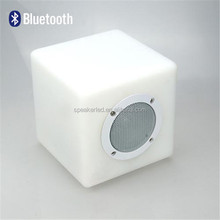 2016 Wireless Phone Bluetooth Speaker Box with LED Table Lamp,Small Cube Shape,Stereo Mini Speaker