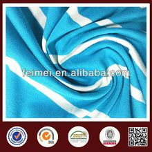 China gold knit fabric supplier, 100% cotton satin stripe fabric with high quality
