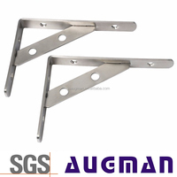 TV table&cabinet folding mounting Triangle Bracket stainless steel glass wall mounted shelves