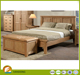 Luxury Bedroom Furniture King Size Bed Wooden Material Bed Designs