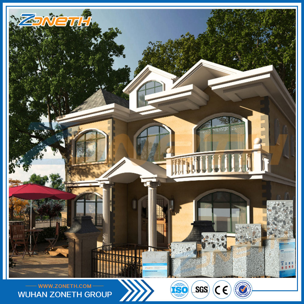 Modern prefabricated flexible fiber cement house for sale