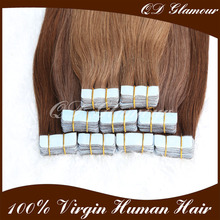 wholesale Large Stock Top Quality Virgin Hair remy Peruvian hair double drawn tape hair extensions