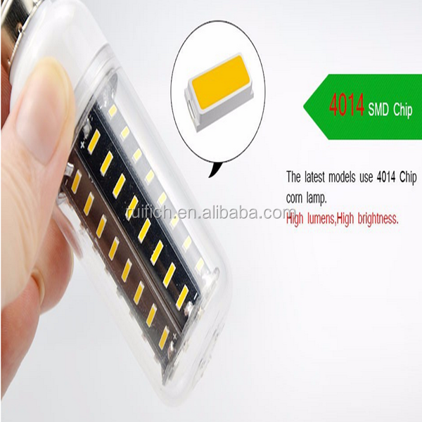 E27 36LEDs 4014 SMD Energy Saving Light Corn Lamp Bulb 12W AC 110v Pure Warm White 2800k-3200k 6000k-6500k