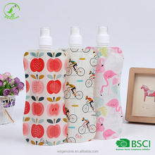 Customized plastic collapsible making machine 16oz flask shaped water bottle/pouch for outdoor products