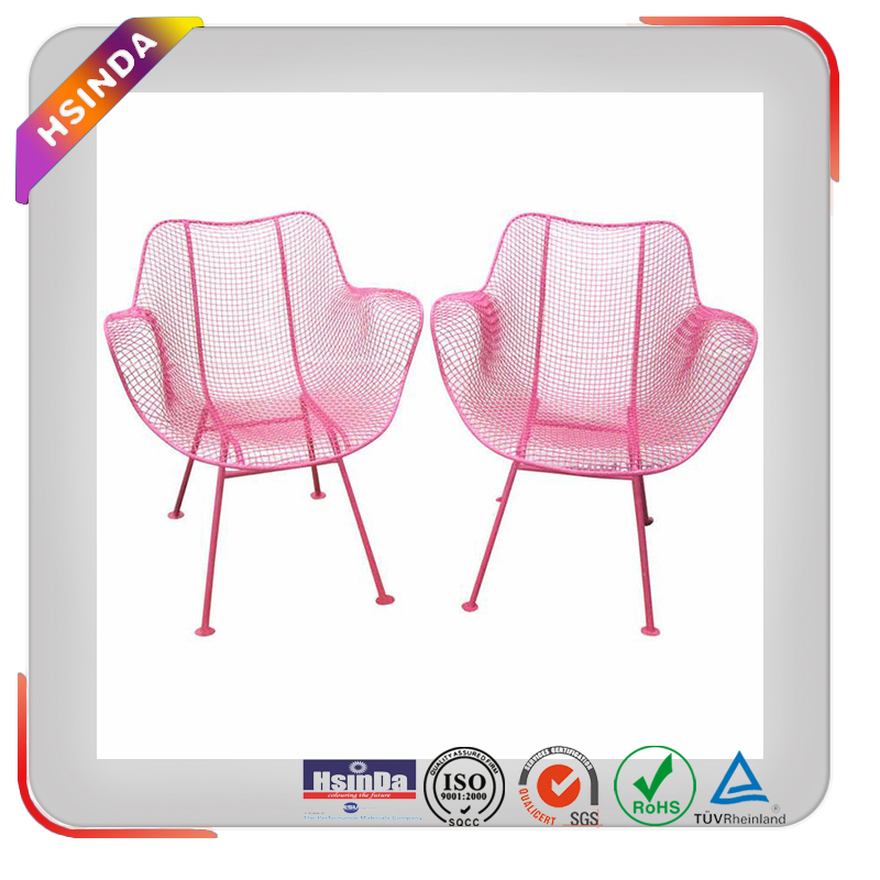 Recycle electrostatic spray Ral powder coating colour chart for patio chairs