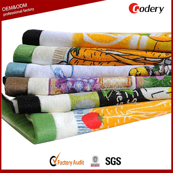 hot selling 100 cotton fabric promotional tea towel