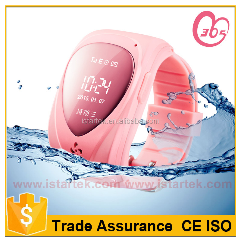 Water proof android 4.4 Smart Watch GPS Tracking Kids