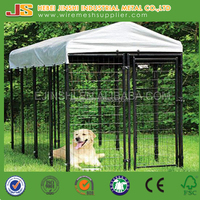 Factory large Outdoor welded Dog run kennel for hot sale