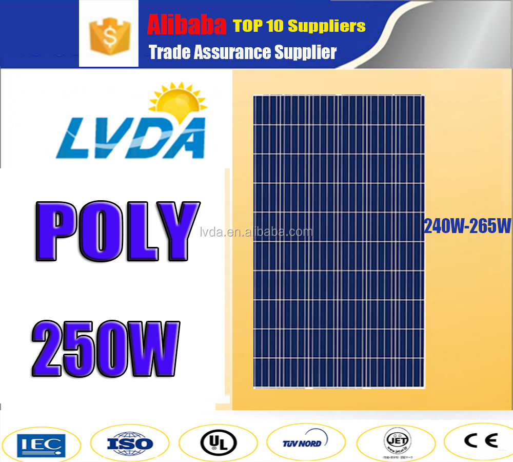 250W polycrystalline silicon PV module poly solar panel for India market 250w poly stock solar panel