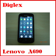 Original Lenovo A690 Cellphone 4.0 inch 800*480 Smart Music MTK6575 1GHz Wifi GPS 3G Android 2.3 os china mobile phone