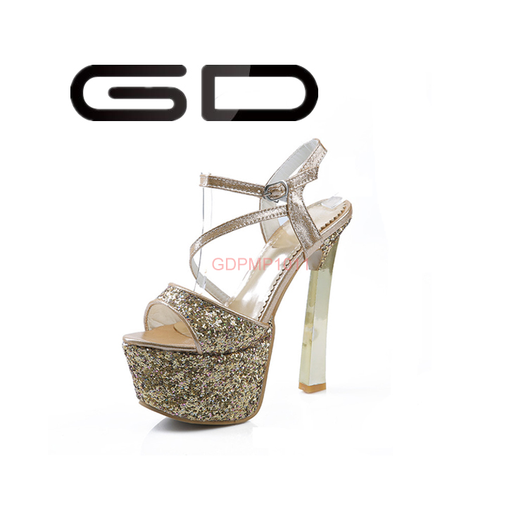 New Women High Platform Stiletto High Heels Shoes, Belt Buckle Peep Toe Sandals
