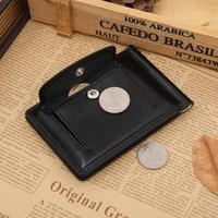 fashion men PU money clip wallet with pocket for coins