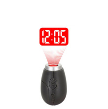LCD Mini Projector Watch Key Electronic Desk Clock Digital Alarm Desktop Table Bedside Clock With Time Projection