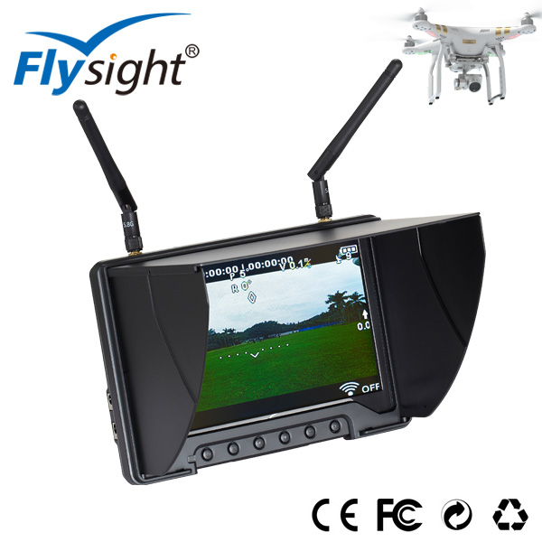"High Resolution 1024x600 Brightness HD Video Screen 7"" HDMI LCD FPV Monitor for DJI Phantom Quadrocopter"