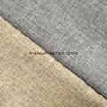 polyester material classic plain linen look fabric for sofas and upholstery