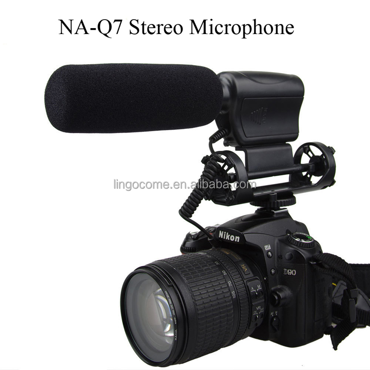 NA-Q7 Prof Stereo Microphone for Canon Nikon Camera DV Video Camcorder