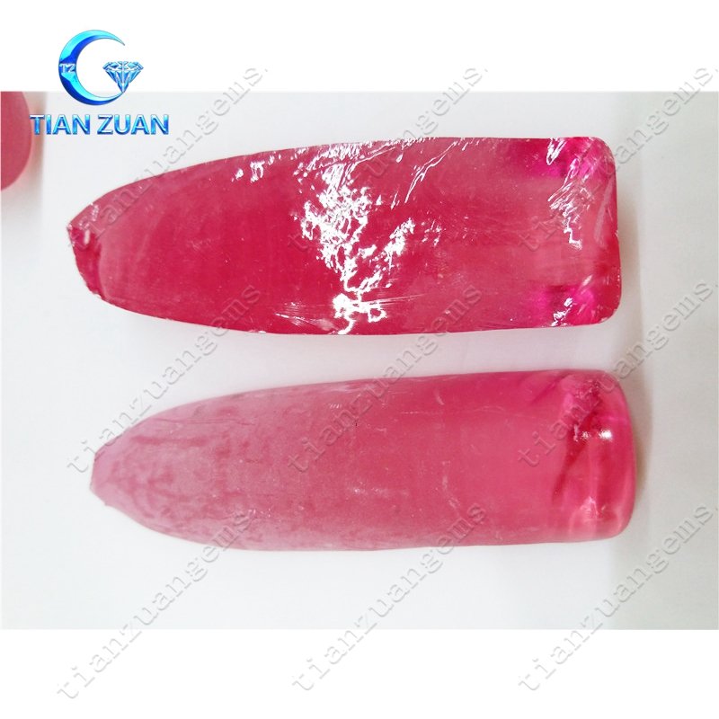 2# Synthetic corundum Gemstone Material Rough corundum ruby