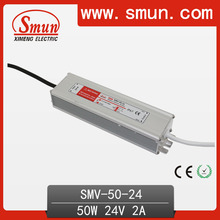 50W 24V CE and RoHS Certificated Waterproof Electronic LED Driver