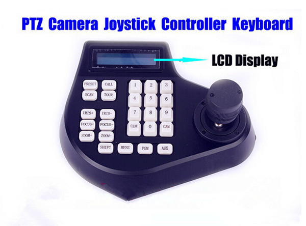 CCTV 3D LCD Joystick rs485 Keyboard Controller for PTZ Camera Security Surveilance