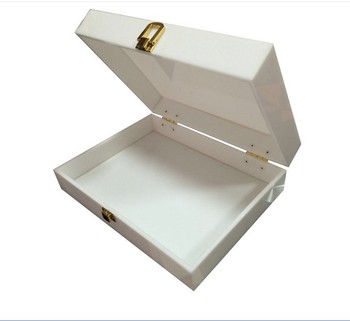 WHITE ACRYLIC COUNTER DISPLAY BOX