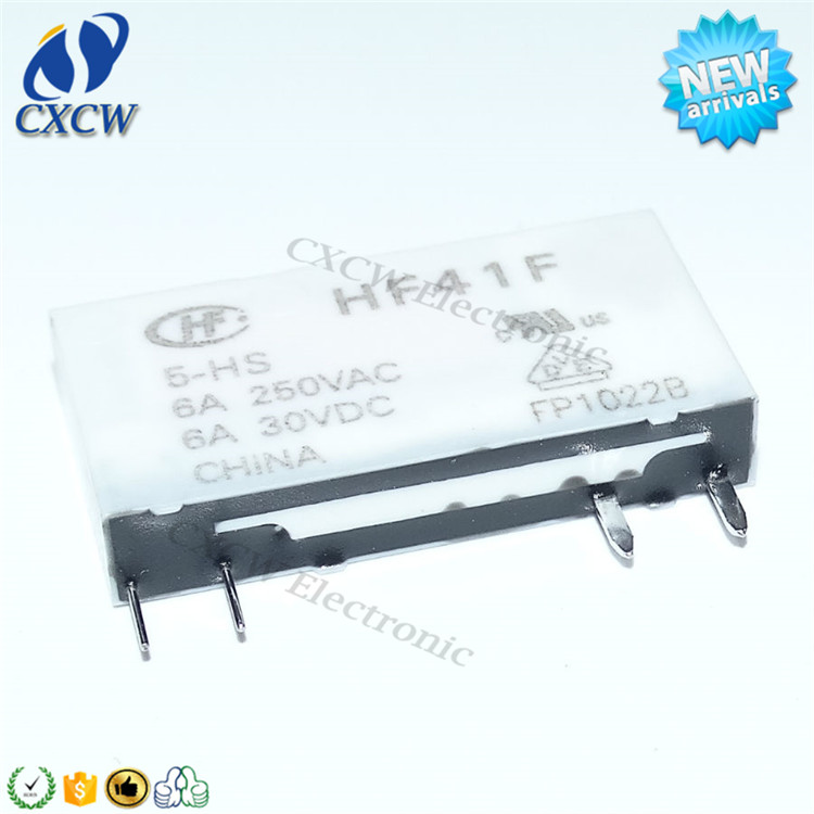 Relay HF41F 005-HS 4pin 5v hongfa relay new original