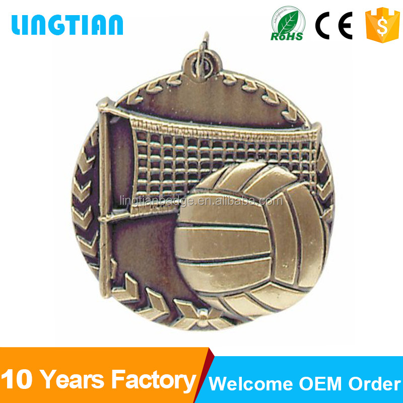 High quality gold and silver plated sport souvenir volleyball,souvenir gift