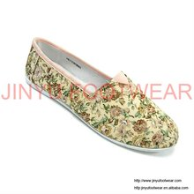 Small floral fashion women flat shoes