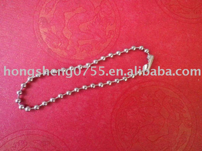 Factory Supply 3.2MM Metal Ball Chain For Gifts Keychain