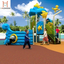 Commercial safe reliable outdoor children slide playground park equipment