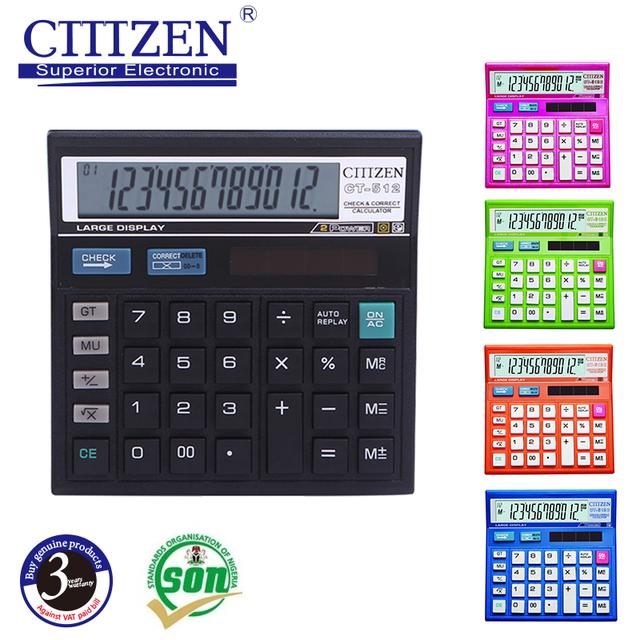 GTTTZEN classical finance desktop scientific 12 digits calculator CT-512