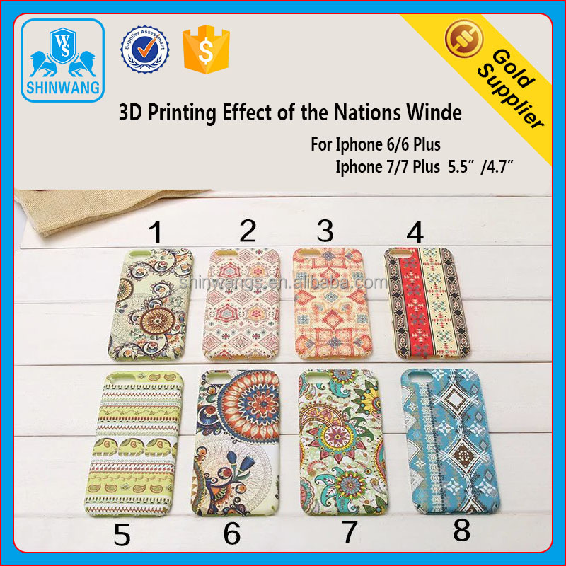 3D Printing of Nations Wind TPU Leather Mobile Phone Back Case for iPhone 7/7Plus and iPhone 6/ 6 Plus