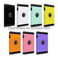 For Ipad covers wholesale, 2014 hot selling TPU+PC Dual Layer Armor Hybrid Combo Case for ipad MINI covers