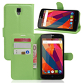 Flip cover PU leather case for ZTE Blade L5, with card slot and stand function,