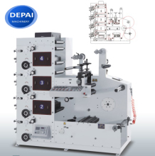 DEPAI paper roll to roll rotary sticker label flexo printing press machine