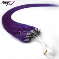 Charlies Angel Micro Ring Links Remy Straight 100% real human loop Hair Extensions 0.4g-0.5g/s100strands 7colors STOCK