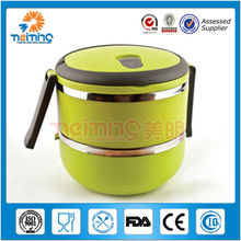 stainless steel double wall keep warm lunch box, plastic lunch box